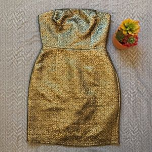 Lord & Taylor Design Lab Gold Dress
